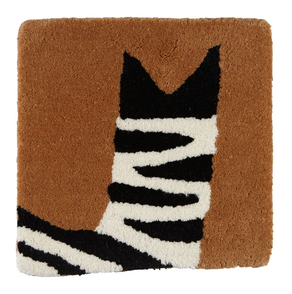 Don't Feed the Rug Swatch (Zebra)