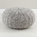 Variegated Grey Pouf