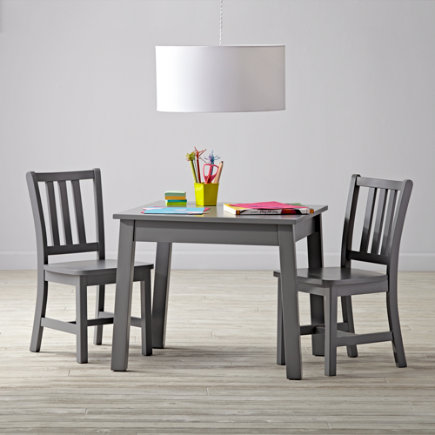 Grey Table & Chair Set - Anywhere Square Grey Play Table & Chairs Set