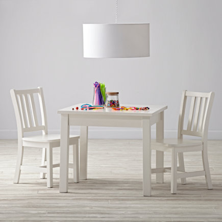 White Table & Chair Set - Anywhere Square White Play Table and Chairs Set
