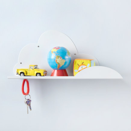 Kids Storage: Kids Wall Cloud Shelf - White Cloud Shelf