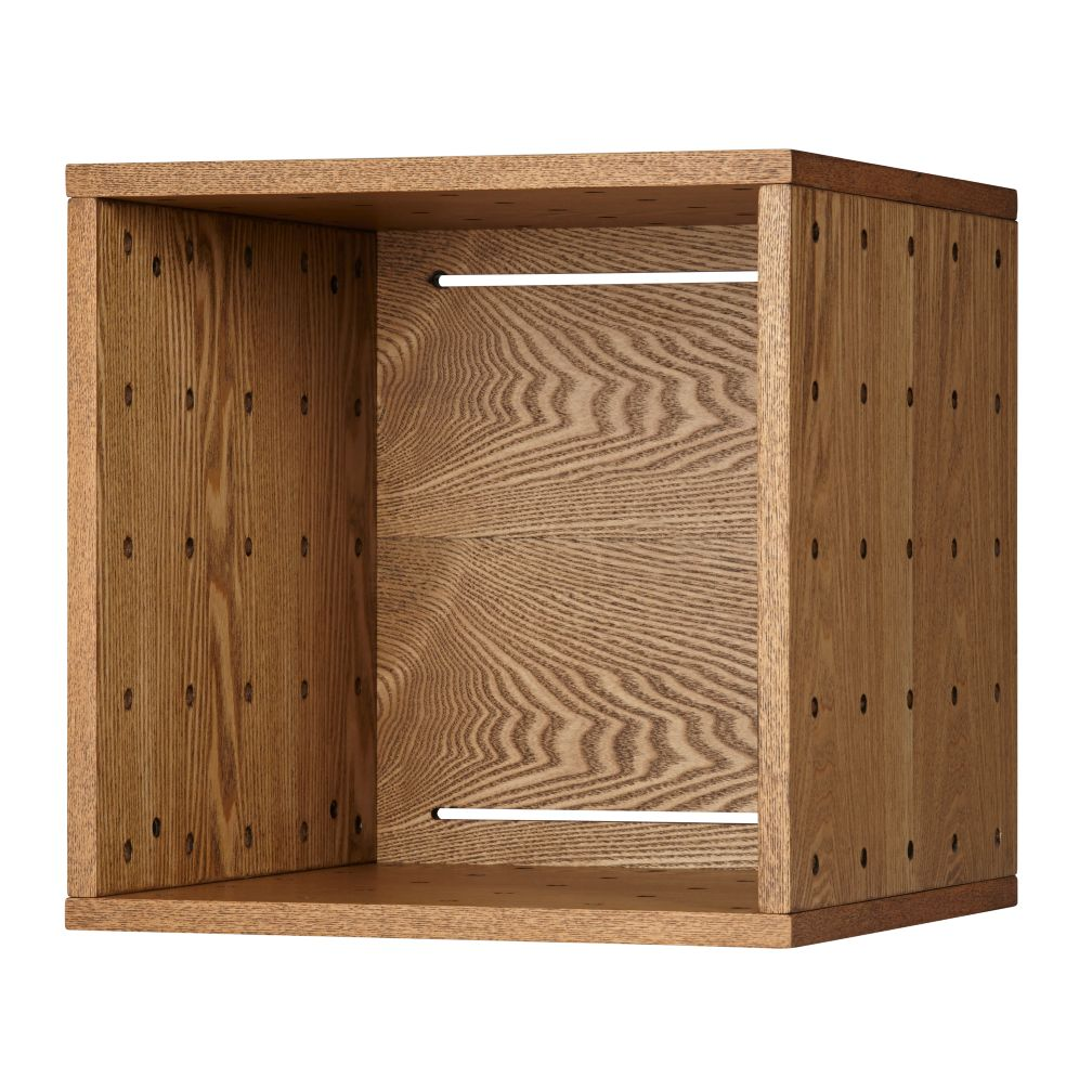 Large Wood Veneer Cubby Cube Wall Shelf