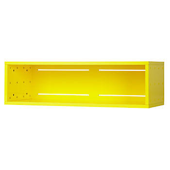 Large Cubby Narrow Wall Shelf (Yellow)