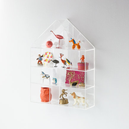 Acrylic House Wall Shelf - Invisible House Wall Shelf