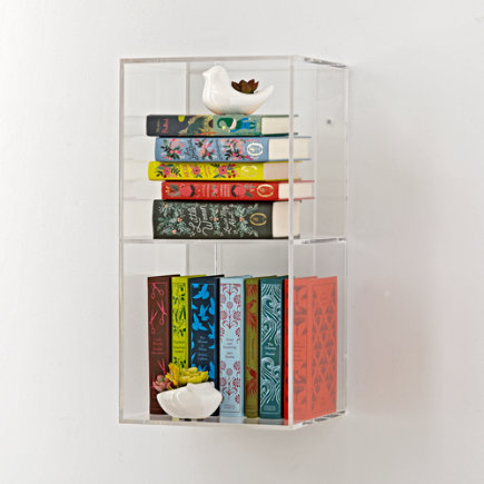 - Now You See It 2-Bin Acrylic Shelf Bookcase