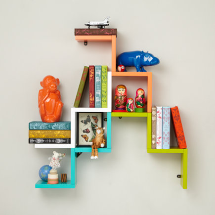 Zigzag Wall Shelf - Orange Origami Wall Shelf