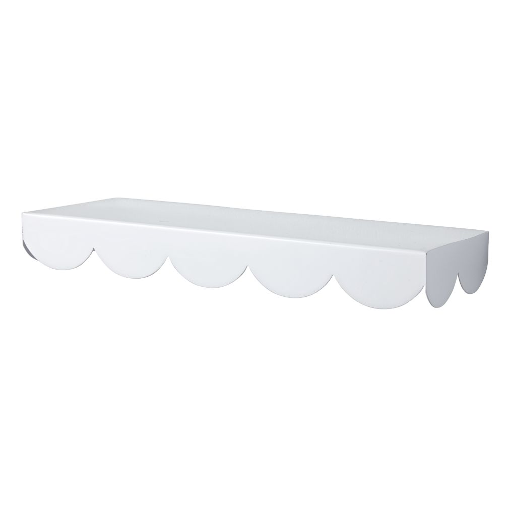 White Simple Scallop Wall Shelf The Land Of Nod