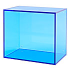 Blue Square Away Acrylic Cube Shelf