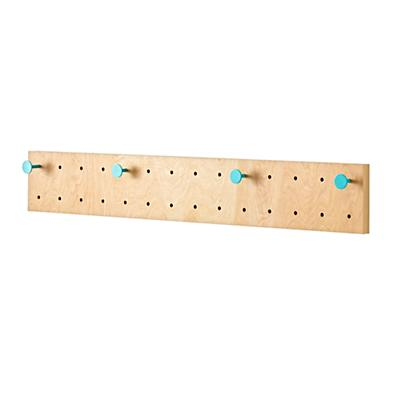 Long Pegboard With 4 Aqua Pegs