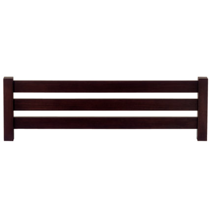 Kids Bed Guardrails: Kids Espresso Simple Bed Guardrail - Espresso Simple Guardrail