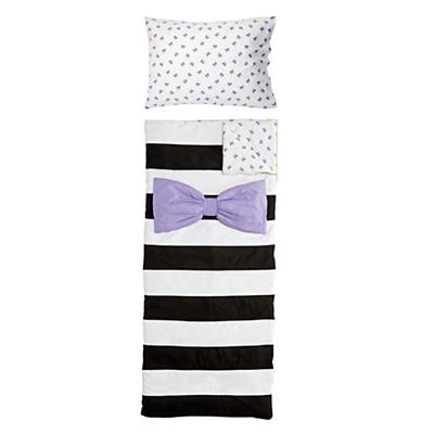 Candy Bow Sleeping Bag & Case Set (Lavender)