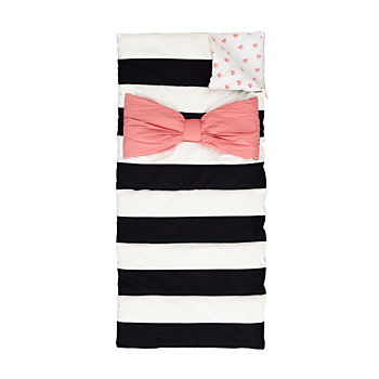Candy Bow Sleeping Bag and Pillow Case (Pink)