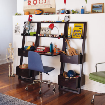 Kids Desk Chocolate Leaning Wall Java Little Sloane