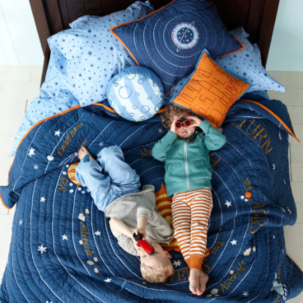 Kids Throw Pillows: Kids Space Ship Throw Pillow - Blast Off Throw Pillow(Includes Cover and Insert)