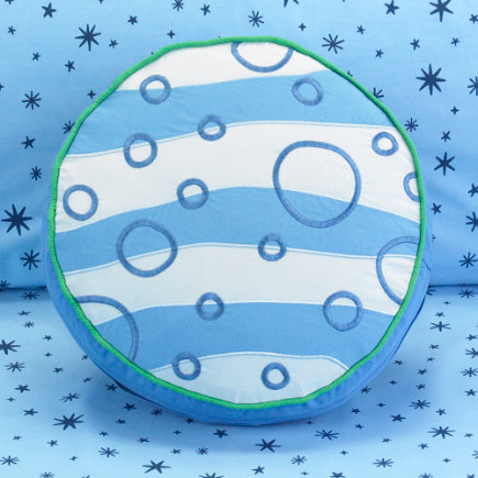 Kids Throw Pillows: Kids Solar System & Planet Throw Pillow - Pluto Throw Pillow
