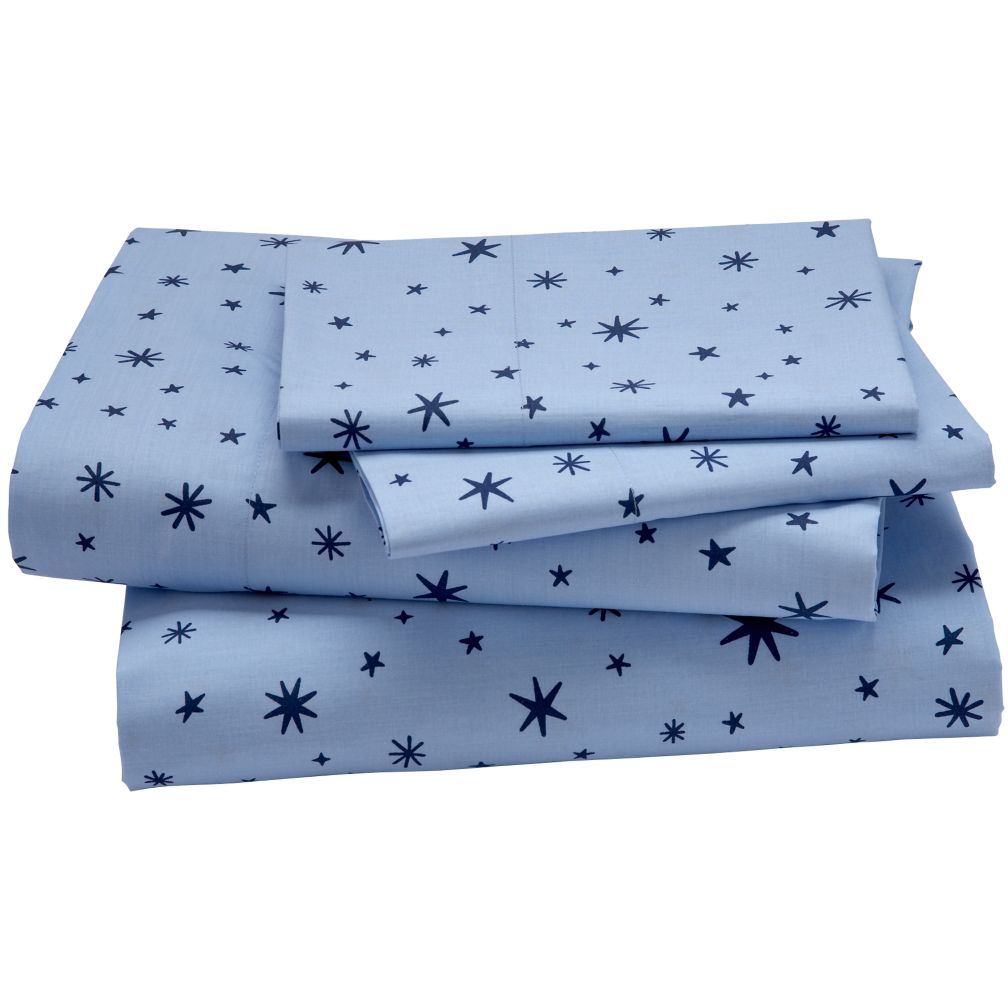 Kids Bedding: Blue Stars Sheet Set