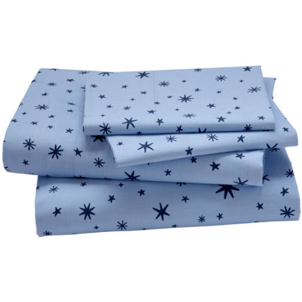 Kids Bedding: Blue Stars Sheet Set - Twin Stars Sheet SetIncludes fitted sheet, flat sheet and one pillowcase
