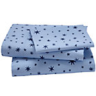 Twin Stars Sheet SetIncludes fitted sheet, flat sheet and one pillowcase