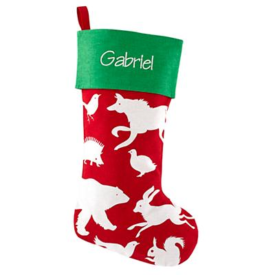 I See a Little Silhouetto Personalized Stocking (Red)