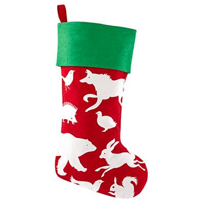 I See a Little Silhouetto Stocking (Red)