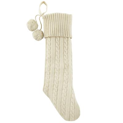 Cream Cable Knit Stocking