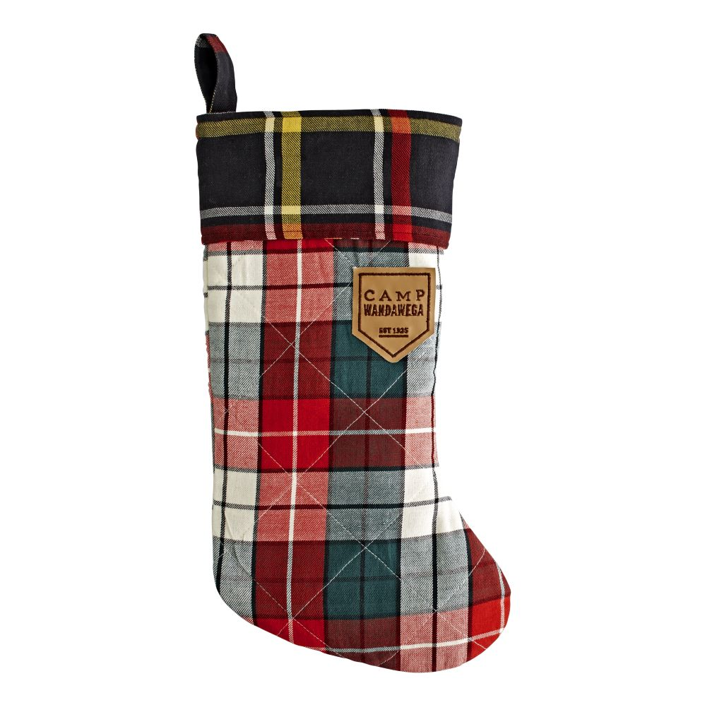 Camp Christmas Stocking (Plaid)