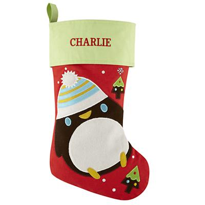 Personalized Penguin Holiday Cheer Stocking