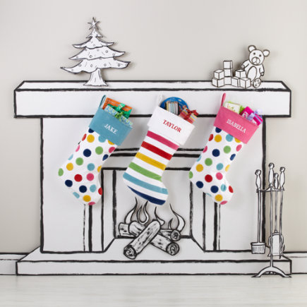 Christmas Stockings: Colorful Personalized Christmas Stocking - Rainbow Stocking