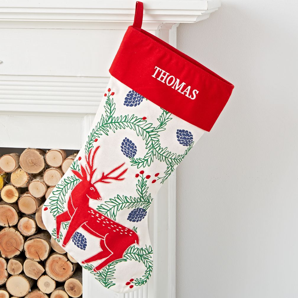 Festive Folklore Deer Stocking