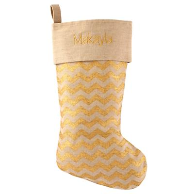 Golden Age Personalized Stocking (Zig Zag)