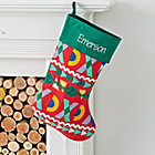 Good Cheer Personalized Green Stocking
