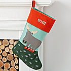 Holiday Helper Personalized Moose Stocking