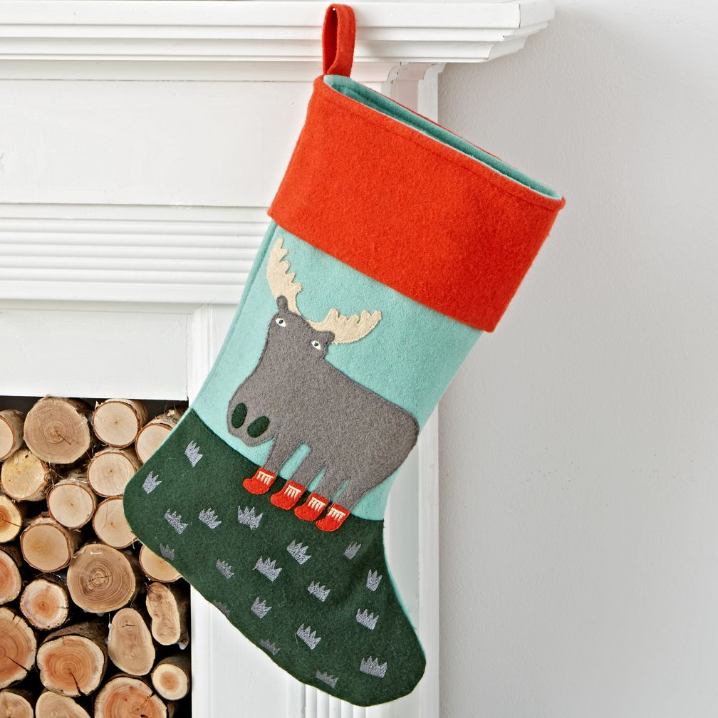 Holiday Helper Moose Stocking