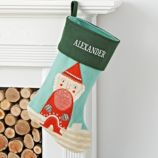 Holiday Helper Santa Stocking