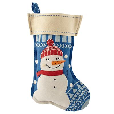 Holly Jolly Stocking (Snowman)
