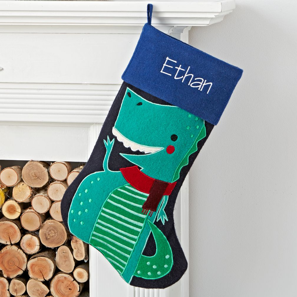 Merry Mascot Personalized Dino Stocking