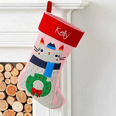 Merry Mascot Personalized Kitty Stocking