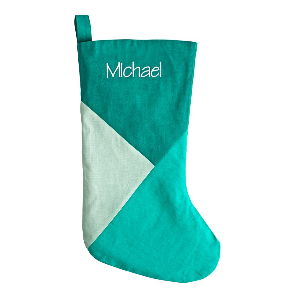 Personalized Merry Mod Stocking (Green)