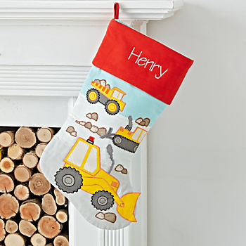 Picture Perfect Personalized Construction Stocking