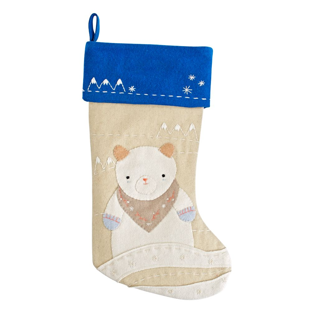 Snowy Neighbor Stocking (Bear)