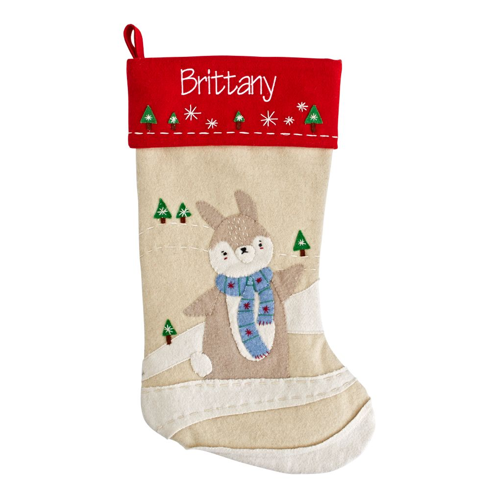 Snowy Neighbor Stocking (Bunny)