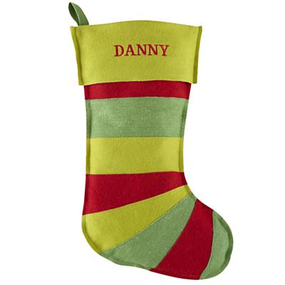 Personalized Stripe Stocking