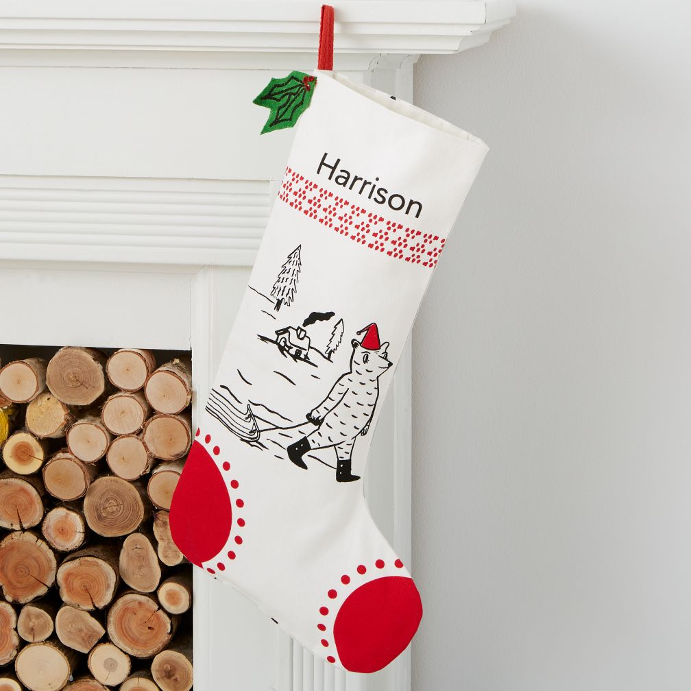 Yuletide Spirit Personalized Bear Stocking