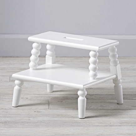 Jenny Lind White Double Step Stool