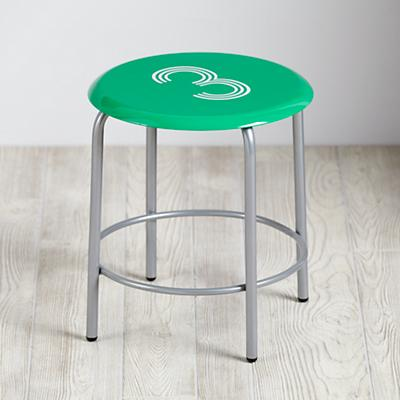 Numeral Metal Stool (Green)
