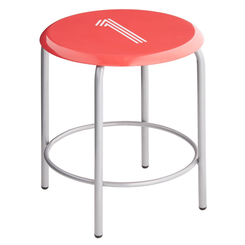 #1 Numeral Metal Stool (Red)