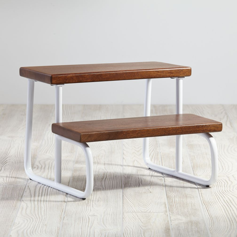 On the Double Step Stool (White)