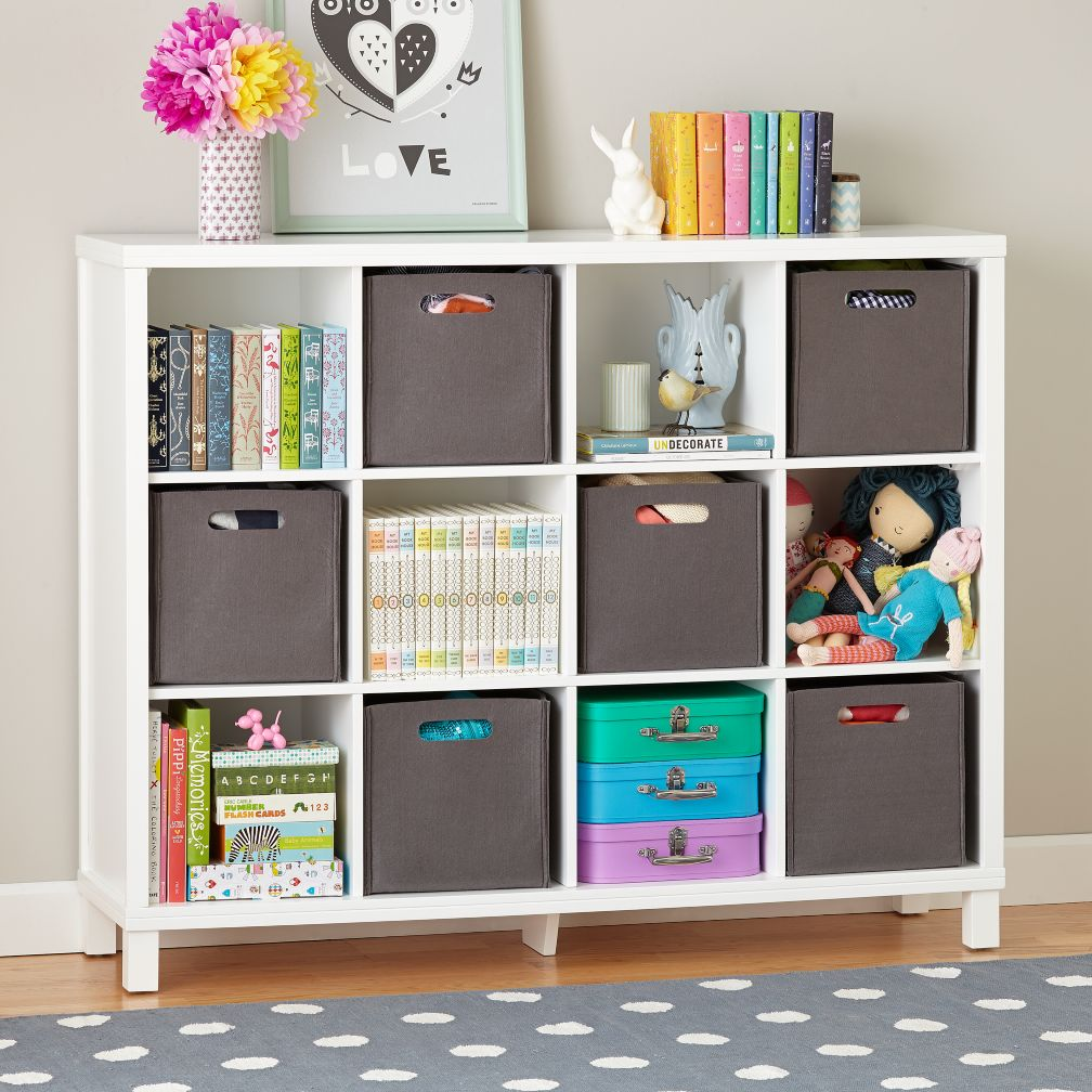 Cubic Bookcase (White, 12-Cube)