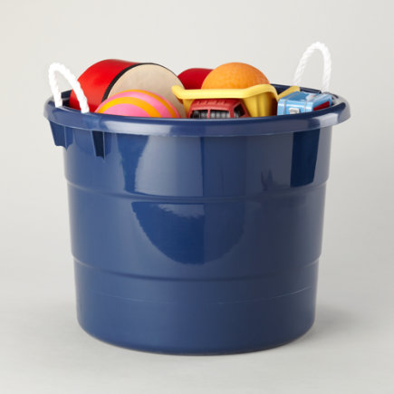 Kids Storage: Kids Outdoor 18 Gallon Blue Tub Container - Large Blue Tub