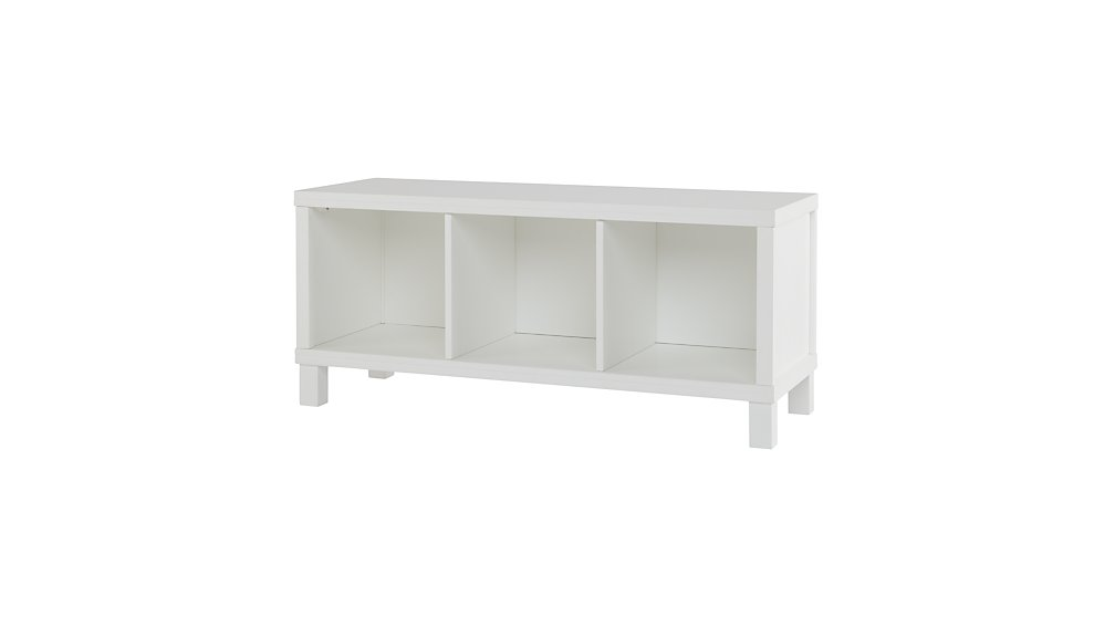 Cubic Bench (White, 3-Cube)